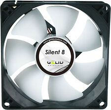 GN2251  Gelid Silent 8 cm 80mm Quiet Cooling Case Fan