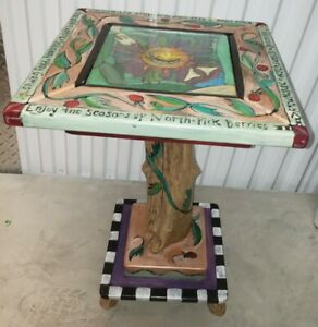 """Amazing 1999 STICKS Square 18"""" x 28"""" End Table/Coffee Table"""