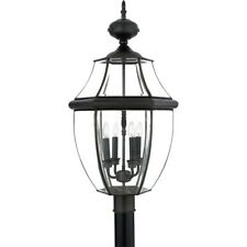 Quoizel 4 Light Newbury Post Lights in Medici Bronze - NY9045Z