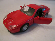 "FERRARI 550 DIE CAST CAR BY WELLY - 1:24 - NO. 9727 - PULL BACK & GO - 4 1/2"" L"