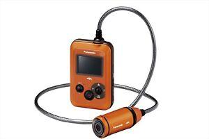 NEW Panasonic HX-A500 Wearable 4K POV Camcorder Orange from Japan