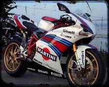 Ducati 1098 S Martini A4 Metal Sign Motorbike Vintage Aged