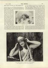 1898 Miss Grace Warner InTermagant Miss Kirby As Nepia
