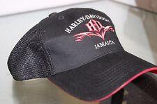 Harley Davidson Jamaica Hat Cap Strap Back Black Grided Adjustable