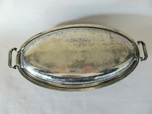 Rustic Art Deco Silver Plated Tureen, Hecworth A1 EPNS, Antique Tableware