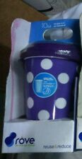 ROVE 10oz. DOUBLE WALL INSULATED HOT COLD PORCELAIN TRAVEL TUMBLER-PURPLE
