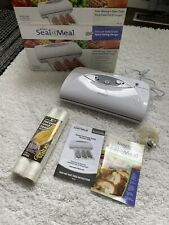 Rival Seal-a-Meal Vacuum Food Sealer VS112 with microban and two rolls of bags