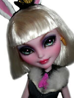 ☠ OOAK custom Bunny Blanc doll repaint ever after monster high bjd wonderland ☠
