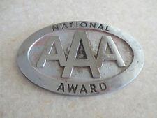 Vintage AAA National Award car badge for Ford Chev Chrysler Dodge Buick Pontiac