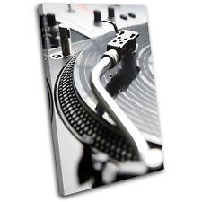 Decks Turntables DJ Club SINGLE CANVAS WALL ART Picture Print VA