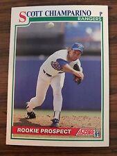 1991 Score Rookie Prospect Scott Chiamparino Texas Rangers 352