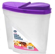 8 4L PLASTICA PET PASTA RISO CEREALI ALIMENTI Dry Storage FLIP COPERCHIO CONTENITORE DISPENSER