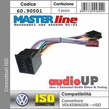 CONNETTORE ISO AUTORADIO PER VOLKSWAGEN NEW BEETLE 1999>2005. ADATTATORE RADIO