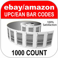 1000 UPC Numbers GS1 Barcodes Bar Codes Amazon eBay Plus Images for Labels