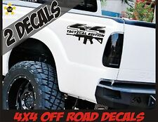 4x4 Truck Bed Decal Set MATTE BLACK Ford F150 Super Duty F250 Tactical AR15 M4