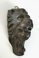 Antique Wood Carving Carved Lion Animal Head Art Sculpture Plaque Black Forest