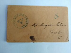 RPO: Boston & Fitchburg R.R. 1850s Stampless Cover, Massachusetts Railroad