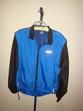 Canari Men's Cycling Jacket Full Zip Blue Black L/S Sleeveless Windbreaker Sz M