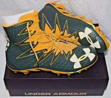 GREEN BAY PACKERS UNDER ARMOUR FOOTBALL CLEATS MENS 12 LACROSSE EDDIE LACY