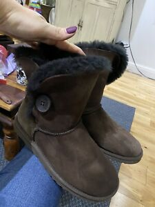 Brown Bailey Button Ugg Australia Boots, Size Uk6/39
