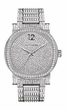 Wittnauer Men's WN3007 Crystal Glitz Quartz Silver Pavé Dial 42mm Watch