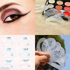 12PC Eyeliner Eye Shadow Mould Guide Smokey Cat Quick Eye Beauty Makeup PVC Tool