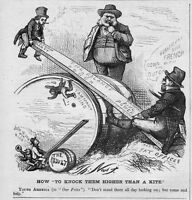 DEMOCRATIC TAMMANY RING POWER REPUBLICAN REFORM PARTY SEE SAW BY THOMAS NAST