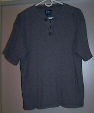 High Sierra Mens Medium Gray/Blue 3 Button Pullover- Size Medium