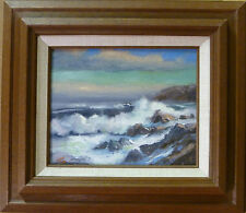 "Seascape ""Afternoon Breakers""  Mattson Original Ocean Oil Painting Frame Art"