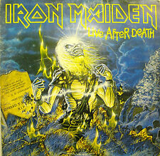"IRON MAIDEN ""LIVE AFTER DEATH"" lp Italy first issue with insert"