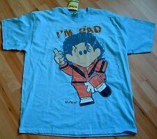 WEENICON Size XL PALE BLUE I'M BAD MICHAEL JACKSON S/S COTTON T-SHIRT BNWT