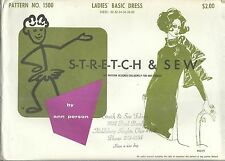 Stretch & Sew 1500A Ladies' Basic Dress 30 to 40  Not a Primitive