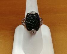 G9 HSN Victoria Wieck Black Onyx Topaz Sterling Ring Size 9