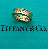 AUTHENTIC TIFFANY & CO 1837 RING, 6.06 MM WIDE, SIZE 5 3/4, APPR. RET USD $1,500