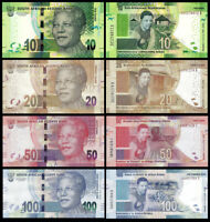 SOUTH AFRICA SET 4 PCS 10-20-50-100 RAND 2018 P-143,144,145,146 NEW UNC
