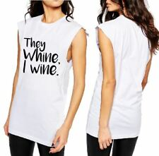 THEY WHINE I WINE T-SHIRT, CUT SLEEVE or LADIES TANK
