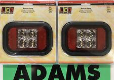 LED Autolamps 2x 133WMG Reverse Lamp 12/24V Tipper/Dog/4WD/Truck/Caravan/Trailer