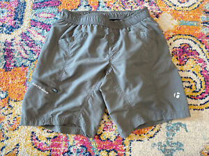 Bontrager gray baggies, cycling shorts, padded, size small, Women's