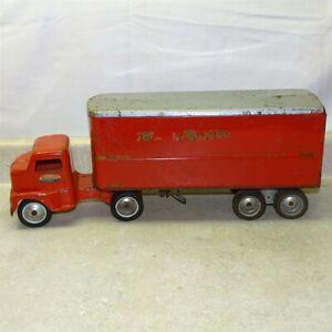 Vintage Tonka 1953 Toy Transport Semi Truck, Trailer, Pressed Steel