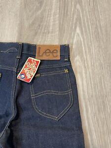 NWT VTG 80's Lee 101S Raw Denim Jeans Bootcut  28x34 Mr. Lee