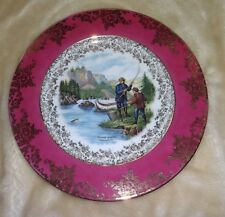 "Bayreuth Currier and Ives ""Salmon Fishing"" Plate"
