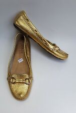 J Crew Shoes Flats Gold Loafers Textured Womens Size 8