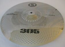 """16"""" CRASH  Low Volume Cymbal Tone Quiet SILVER Finish FAST FREE SHIPPING E"""