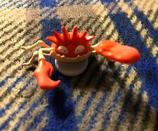 Rare Vintage Tomy Nintendo Mounted Crab figure Toy Mario 1980s 1990's Figure
