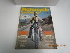 Motorcycle Sport Quarterly  SUMMER 1971 Vintage Magazine - TOURING/TRAILING SPL
