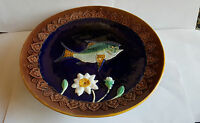 19th Century English Majolica Fish Decorated Comport