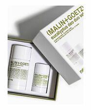 Malin + Goetz Eucalipto Desodorante Duo 1x73g completo tamaño + 1x28g Tamaño De Viaje Nuevo Y En Caja