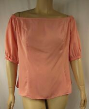NEW City Chic Salmon Short Sleeve Off Shoulder Top Plus Size XS 14 BNWOT 1095