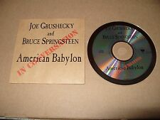Joe Grushecky And Bruce Springsteen American Babylon In Conversation Promo cd