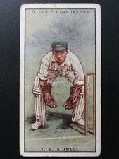 No.42 T.E. SIDWELL - LEIC Cricketers 2nd Series by W.D. & H.O. Wills Ltd 1929